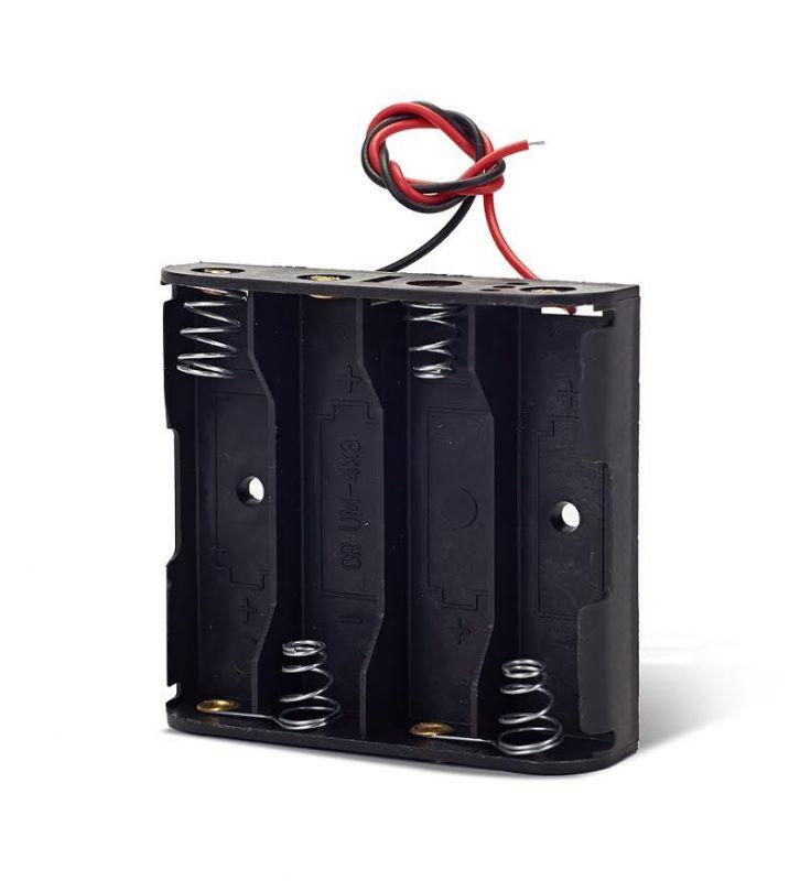 Блоки и элементы питания - Батарейный отсек 4 AA